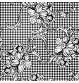 eclectic fabric plaid seamless pattern with vector image vector image