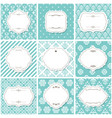 elegant frame set on seamless baroque patterns vector image