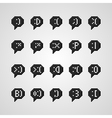 emotions icons vector image vector image