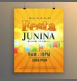 festa junina carnival flyer poster design vector image vector image