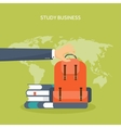 Flat school backpack Study vector image vector image