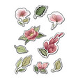 flower stickers design elements for notes vector image