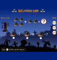 game count the witch hat in the halloween theme vector image