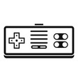 gaming controller icon simple style vector image vector image