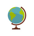 geographic planet icon flat style vector image vector image