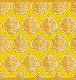 geometric golden leaves mustard yellow background vector image vector image
