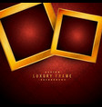 golden luxury frames on red vintage background vector image vector image