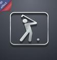 Golf icon symbol 3D style Trendy modern design vector image vector image