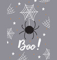 halloween greeting card with a spader vector image vector image
