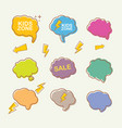 hand drawn speech bubbles set isolated on vector image