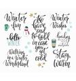 Hello Winter season typography set vector image vector image