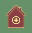 hospital sign cordovan icon vector image vector image