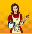 Housewife woman pop art style