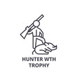 hunting trophy thin line icon sign symbol vector image