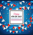 independence day happy fourth of july card vector image vector image