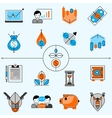 Investment Line Icons Set vector image vector image