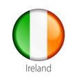 ireland round button flag vector image vector image