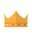 isolated golden royal crown icon vector image