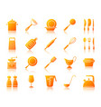 kitchenware simple gradient icons set vector image vector image