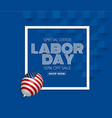 labor day sale promotion advertising banner vector image vector image