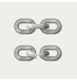 Link set Metal chain vector image