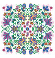 lovely tablecloth ethnic indian flowers beautiful vector image