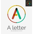 Minimal line design logo vector image vector image