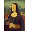 Mona Lisa in Flat Style vector image