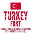 National Flag Font vector image vector image