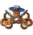 octopus bandit vector image