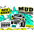 off road poster vector image vector image