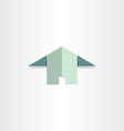 paper house flat home icon vector image