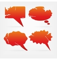red communication bubbles vector image