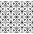 romantic black and white flowers pattern vector image