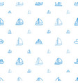sailboat icons pattern seamless white background vector image vector image
