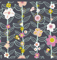 seamless kids pattern fairy and flowers vector image vector image