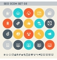 SEO icons set 2 Multicolored square flat buttons vector image vector image