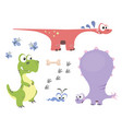 set of dinosaurs 1 vector image vector image