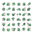 sports and fitness outline symbols vector image vector image