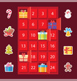 strongbox with presents set vector image vector image