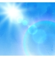 Sunlight rays and blue sky vector image vector image