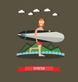 surfer with surfboard in flat vector image vector image