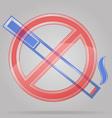 transparent sign no smoking vector image vector image