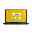 user login icon flat style vector image vector image