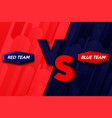 versus letters or vs logo red watercolored vector image vector image