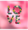 Vilentines day greeting card on blurred background vector image vector image