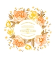 Vintage frame of yellow flowers on a white vector image vector image