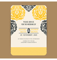 Wedding vintage wedding invitation card vector image vector image