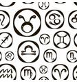 zodiac icon set pattern vector image