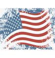 USA grunge flag vector image